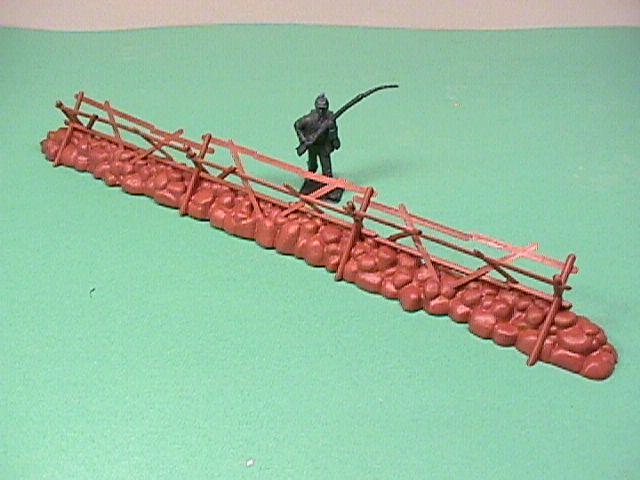 BMC Plastic Stone Wall & Split Rail Fence Section