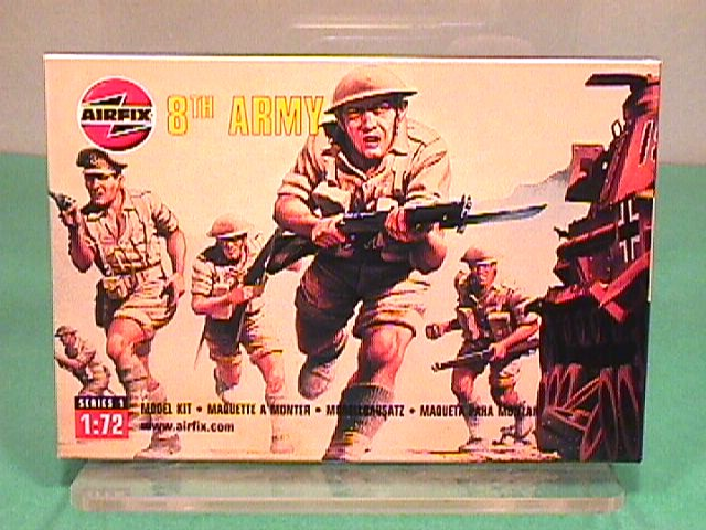 Airfix 1/72nd Scale British WWII 8th Army Plastic Soldiers Set