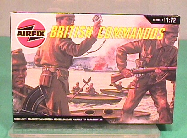 Airfix 1/72nd Scale WWII British Commandos Plastic Soldiers Set
