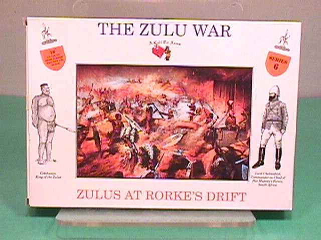 A Call To Arms 1/32nd ZULU WAR Zulus At Rorke's Drift Boxed Set 6