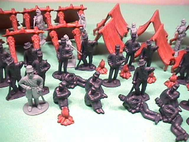 ACW Plastic Union Prisoners/Confederate Andersonville Prison Soldiers Set