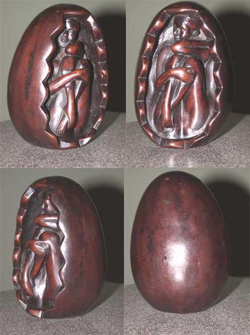 Egg Female Inside Egg Sculpture Resin