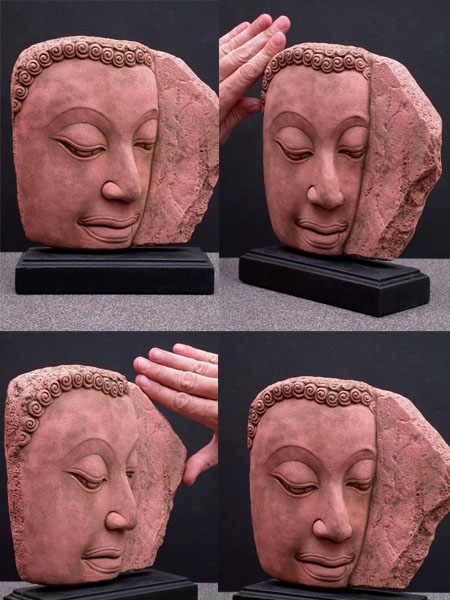 Large Buddha Dramatic Reproduction in Sandstone