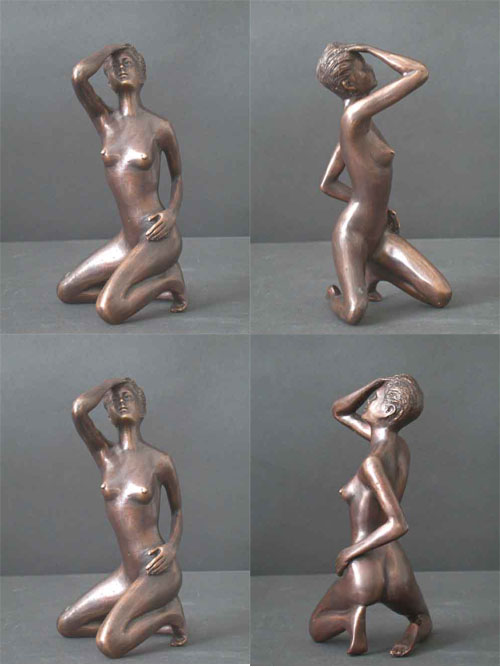 Bronze Female Sculpture Figure Study 3 of 5
