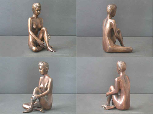 Bronze Female Sculpture Figure Study 2 of 5