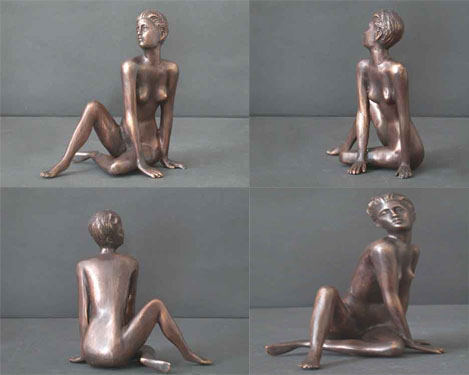 Bronze Female Sculpture Figure Study 4 of 5