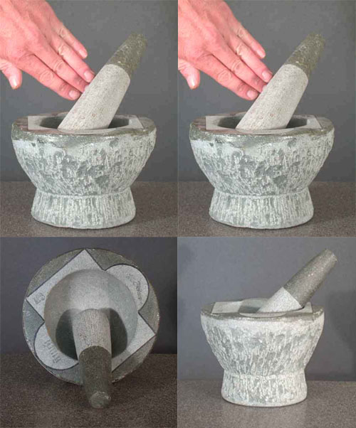 Mortar & Pestle Marble Pottery