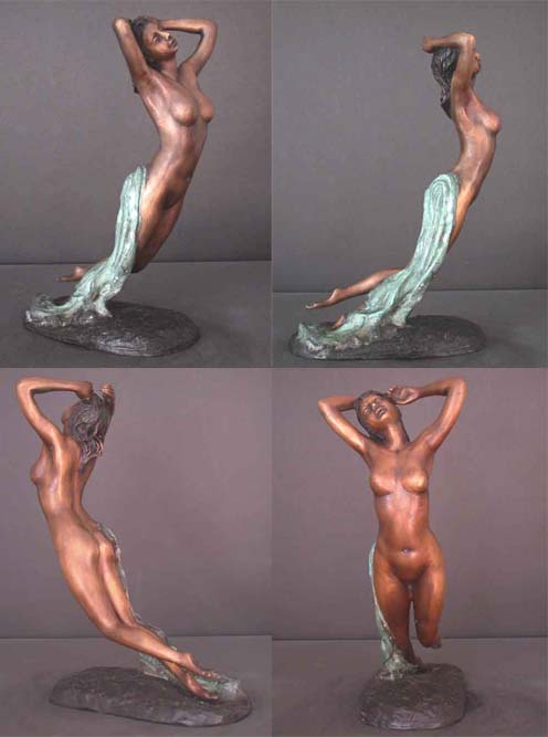 Large Female Nocturne Bronze Sculpture Art