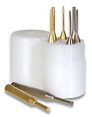 Gunsmiths 8 Piece Brass & Chrome Punch Set