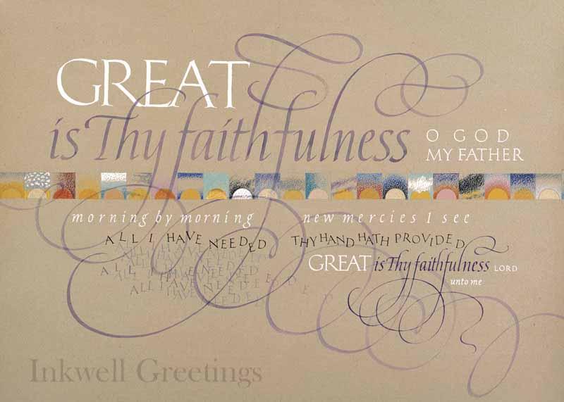 Great Is Thy Faithfulness 602