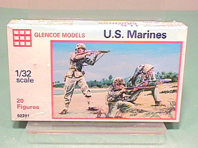 Marx Plastic Recast World War II Set of 20 U.S. Marines