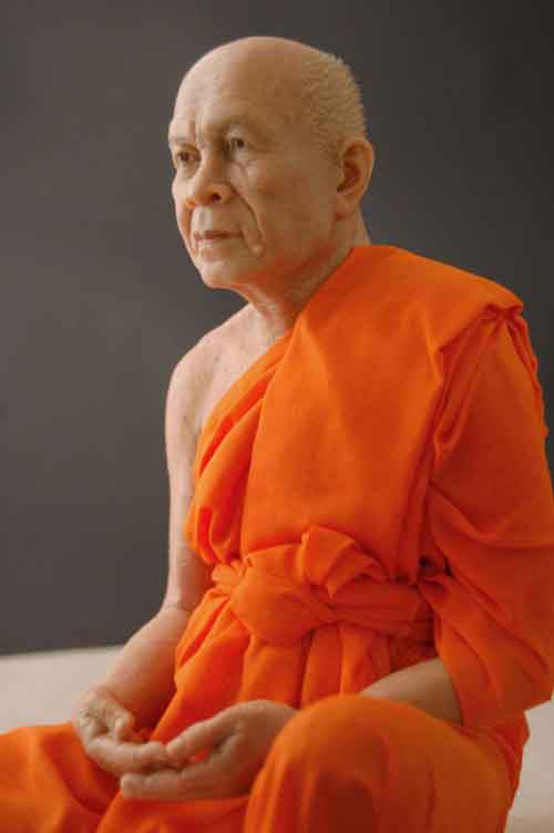 Image 0 of Wax Museum Quality Buddhist Monk Figure Extreme Art 1