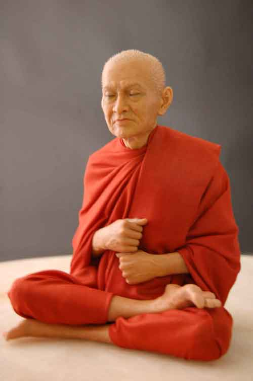 Image 0 of Wax Museum Quality Buddhist Monk Figure Extreme Art 2