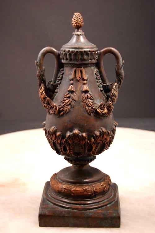 Bronze Vase w/ Pineapple Lid & Bird Alexander Movie Prop