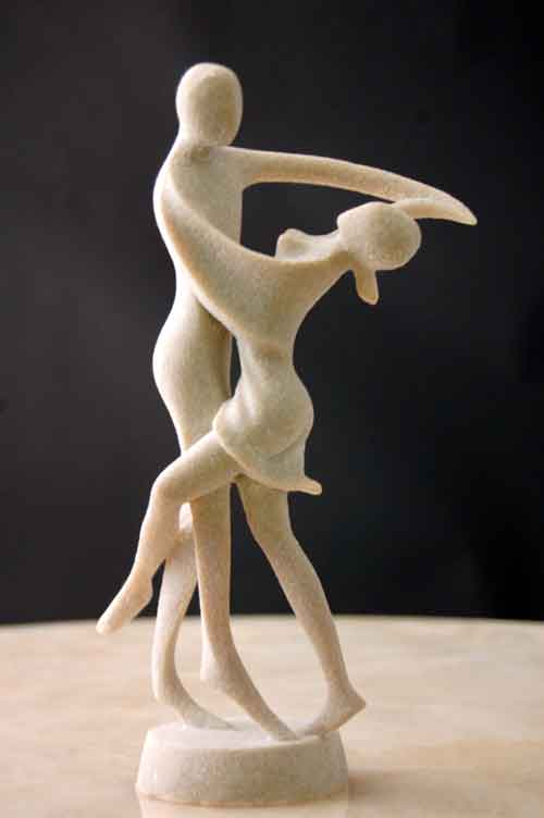 Image 0 of Tango Dancing Sculpture Sparkling Silica Resin Art #2