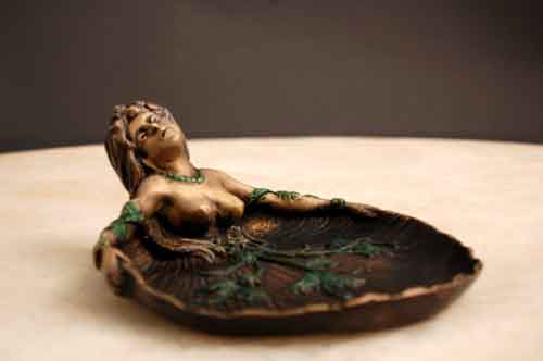 Bronze Ashtray/Dish Art Deco Nouveau