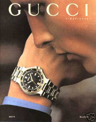 Gucci Timepieces Watch - Gold Silver - Handsome Man 1994 Ad