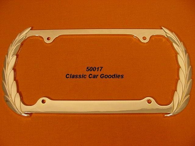 Cadillac Wreath License Plate Frame. Show Gold.