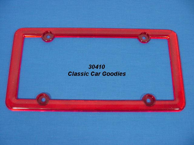red reflector license plate frame high visibility
