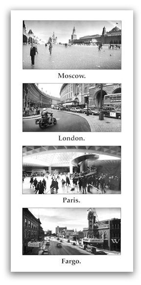 Thumbnail of Four Cities - Moscow to Fargo Magnet