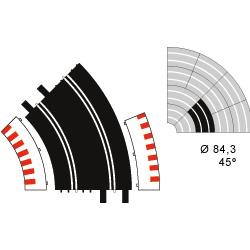 Ninco 10105 R2 Standard (45 degree) Curve Track (2) - USED