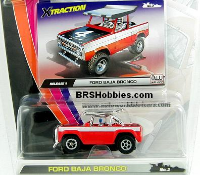 Copyright2004 Scale Auto Racing on Auto World  109c2 X Traction Release 1 Ford Baja Bronco Ho Slot Car