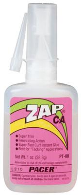Pacer ZAP CA Thin Super Glue PT08