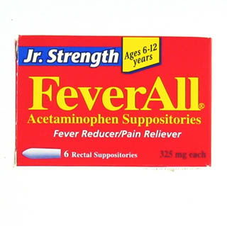 Image 0 of Feverall Junior Strength 325 mg Suppositories 6