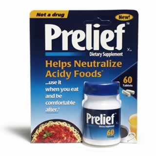 Prelief Dietary Supplement Acid Relief Tablets 60