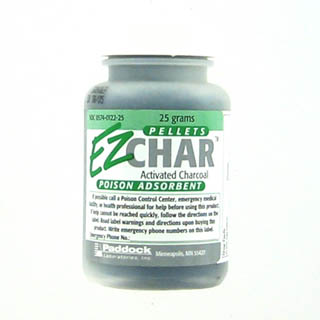 Ez-Char Pellets Activated Charcoal Poison Absorbent 25 Gm