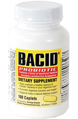 Image 0 of Bacid Probiotic Dietary Supplement Caplets 100 Ct.