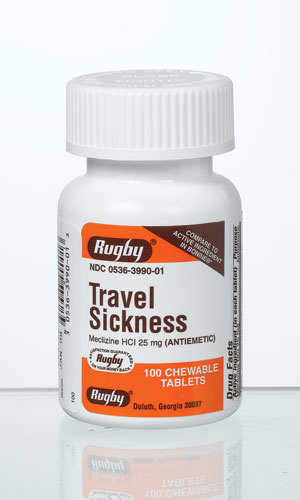 Meclizine Hcl 25 mg Travel Sickness Antiemetic Chewable Tablets 1000 by Watson