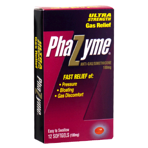 Image 0 of Phazyme Ultra Strength Gas Relief 180 mg Easy To Swallow Softgels 12