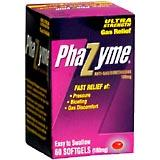 Phazyme Ultra Strength Gas Relief 180 mg Eachsy To Swallow Softgels 60