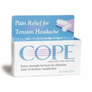Cope Extra Strength Pain Relief Tension Headache Tablets 60   New Formula