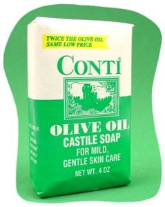 Conti Olive Oil Castile Bar Soap 4 Oz