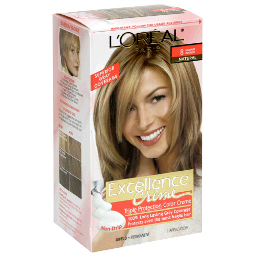 Image 0 of Loreal Excellence Medium Blonde 8 Hair Color