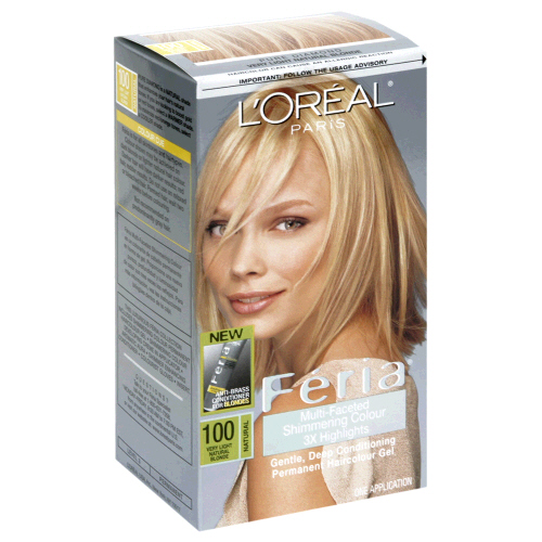 Image 0 of Loreal Feria Permanent Hair Color 100 Pure Diamond