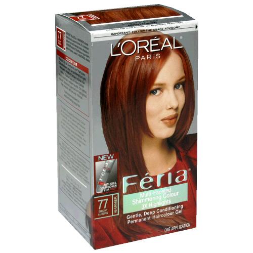 ... Loreal Feria Multi Faceted Cinnamon Bright Auburn Brown 55 Hair Color