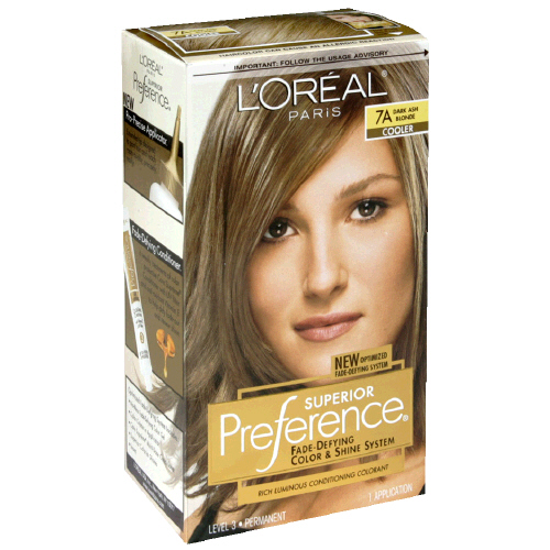 Hair Care - Loreal - Loreal Preference Dark Ash Blonde #7A Hair Color