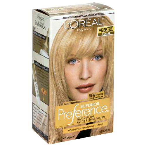 Image 0 of Loreal Preference Lightest Beige Blonde #9.5Bb Hair Color