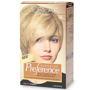 Image 0 of Loreal Preference Light Ash Blonde #9A Hair Color