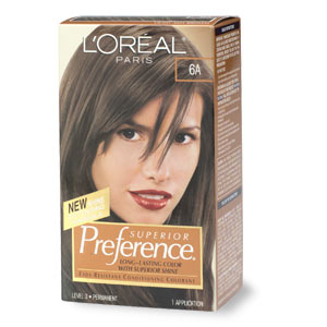 hair care loreal loreal preference 6a light ash brown
