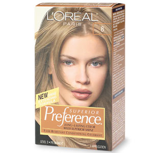 Image 0 of Loreal Preference Hair Color 8 Medium Blonde