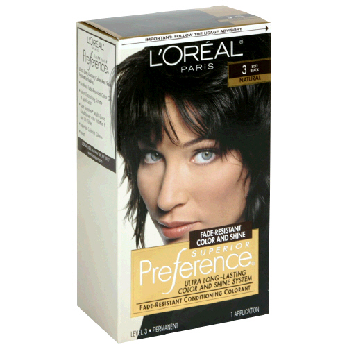 Image 0 of Loreal Preference Hair Color 3 Soft Black