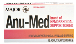 Anu-Med Hemorrhoidal New Formula Suppositories 12