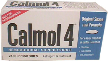 Calmol 4 Hemorrhoidal Suppositories 24 Ct