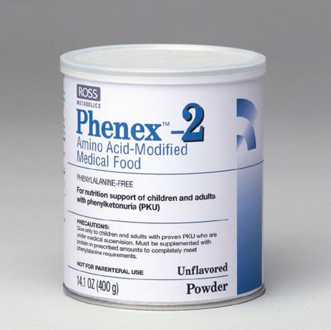 Phenex-2 Amino Acid Medical Unflavored Food Powder 6X14.1 oz