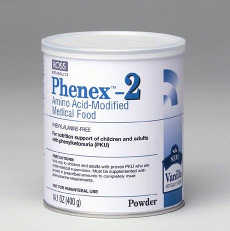Phenex-2 Amino Acid Medical Vanilla Food Powder 6X14.1 oz