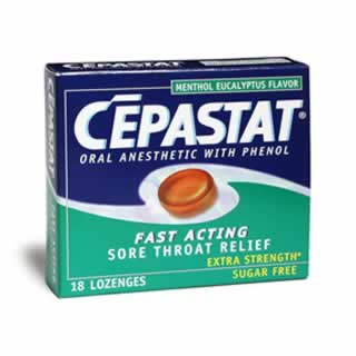 Image 0 of Cepastat Extra Stength Menthol Eucalyptus Flavor Lozenges 18